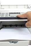 Photocopy machine. In office with paper Stock Photo