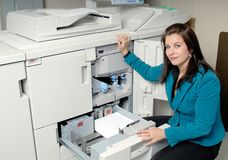PhotoCopy Machine And Woman Stock Photography