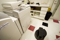 Photocopy room in office Stock Image