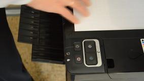 Photocopy Scanner stock footage