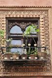 Tracery of muslim architecture stock photo
