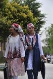 The Uyghur nationality girls stock photos