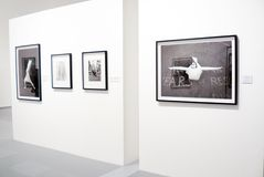 Photoexhibition of Veruschka in Moscow Stock Photos