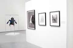 Photoexhibition of Veruschka in Moscow Stock Image