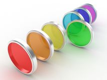 The photofilters. Illustration of photofilters of different colour on a white background Stock Image