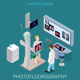 Photofluorography medical equipment flat isometric vector 3d Royalty Free Stock Photo