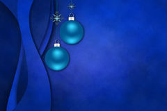 Photoframe élégant avec de seuls christmasballs images stock