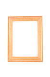 Photoframe. Wooden photoframe isolated on white Royalty Free Stock Images