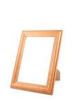 Photoframe. Wooden photoframe isolated on white Royalty Free Stock Photography