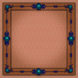 典雅的要素修宝石金属photoframe 免版税库存图片