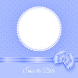 Photoframe with beads and bow Stock Images