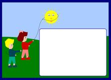 Photoframe das crianças ilustração stock