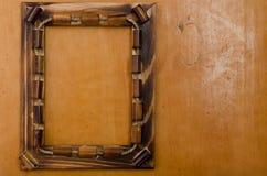 Photoframe de bambú Imagen de archivo