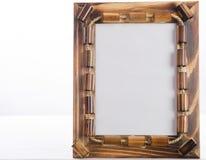 Photoframe de bambú Fotos de archivo libres de regalías