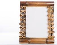 Photoframe de bambú Imagenes de archivo