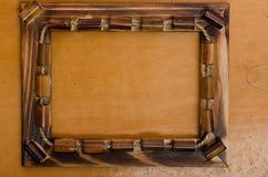 Photoframe de bambú Imágenes de archivo libres de regalías