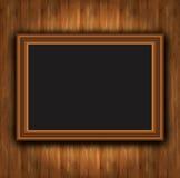 Photoframe de madera de la tarjeta del capítulo Foto de archivo