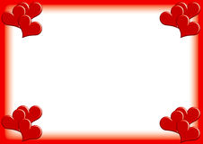 Photoframe de Valentine Photo stock