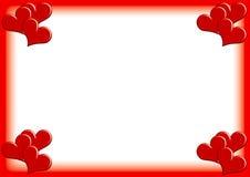 Photoframe del biglietto di S. Valentino Fotografia Stock