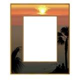 Photoframe die het overzees overzien Royalty-vrije Stock Afbeeldingen