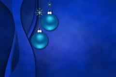 Photoframe elegante con los christmasballs únicos Imagenes de archivo
