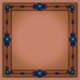 Photoframe elegante con los elementos de la joya y del metal Imagen de archivo libre de regalías