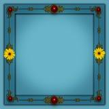 Photoframe elegante con un diseño de la flor Imágenes de archivo libres de regalías