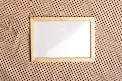 Photoframe on glamour pattern Royalty Free Stock Photo