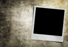 Photoframe on grunge background Royalty Free Stock Photos