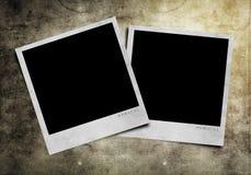 Photoframe on grunge background. Old photo frames on grunge background Stock Images
