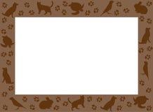 Photoframe od sylwetek zwierzęta domowe Ramowy projekt dla zwierząt domowych ilustracja wektor