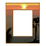Photoframe overlooking the sea Stock Photography
