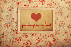 Photoframe on pattern Royalty Free Stock Images