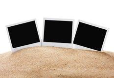 Photoframe on the sea sand Stock Photography
