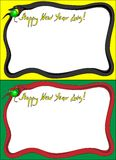 Photoframe snake year 2013. This is file of EPS8 format Stock Images