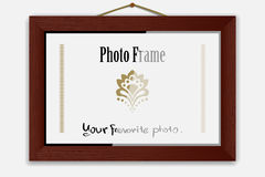 Photoframe sur le clou Photographie stock