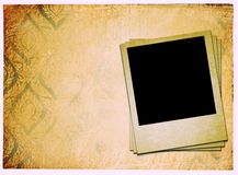Photoframe on vintage paper Royalty Free Stock Photo