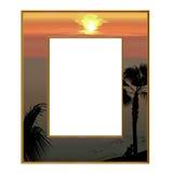 Photoframe, welches das Meer übersieht Stockfotografie