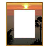 Photoframe, welches das Meer übersieht Lizenzfreie Stockbilder