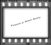 photoframework för 35mm filmram Arkivfoton