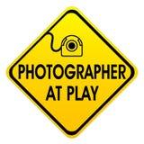 Photogarpher bij spel stock foto's