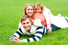 Photogenic family of three Royalty Free Stock Photo