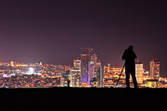 Photografer take a photograph of Tel Aviv Skyline Stock Photos