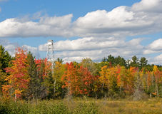 Autumn Fire Tower Royalty Free Stock Photos