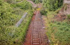 A deserted railway track in Scotland royalty free stock images