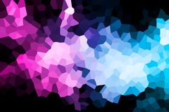 A photograph of an abstract geometric pattern. Colorful abstract geometrical composition, geometric pattern from blue and pink various polygons and triangles  on Royalty Free Stock Photography