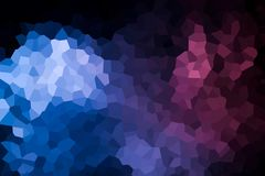 A photograph of an abstract geometric pattern. Colorful abstract geometrical composition, geometric pattern from blue and pink various polygons and triangles  on Stock Photography