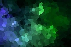 Abstract geometric polygons and triangles. A photograph of an abstract geometric pattern from various polygons and triangles of  blue and green Stock Photos