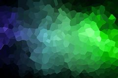 Abstract geometric polygons and triangles. A photograph of an abstract geometric pattern from various polygons and triangles of  blue and green Stock Photography