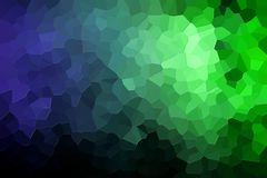 Abstract geometric polygons and triangles. A photograph of an abstract geometric pattern from various polygons and triangles of  blue and green Royalty Free Stock Images